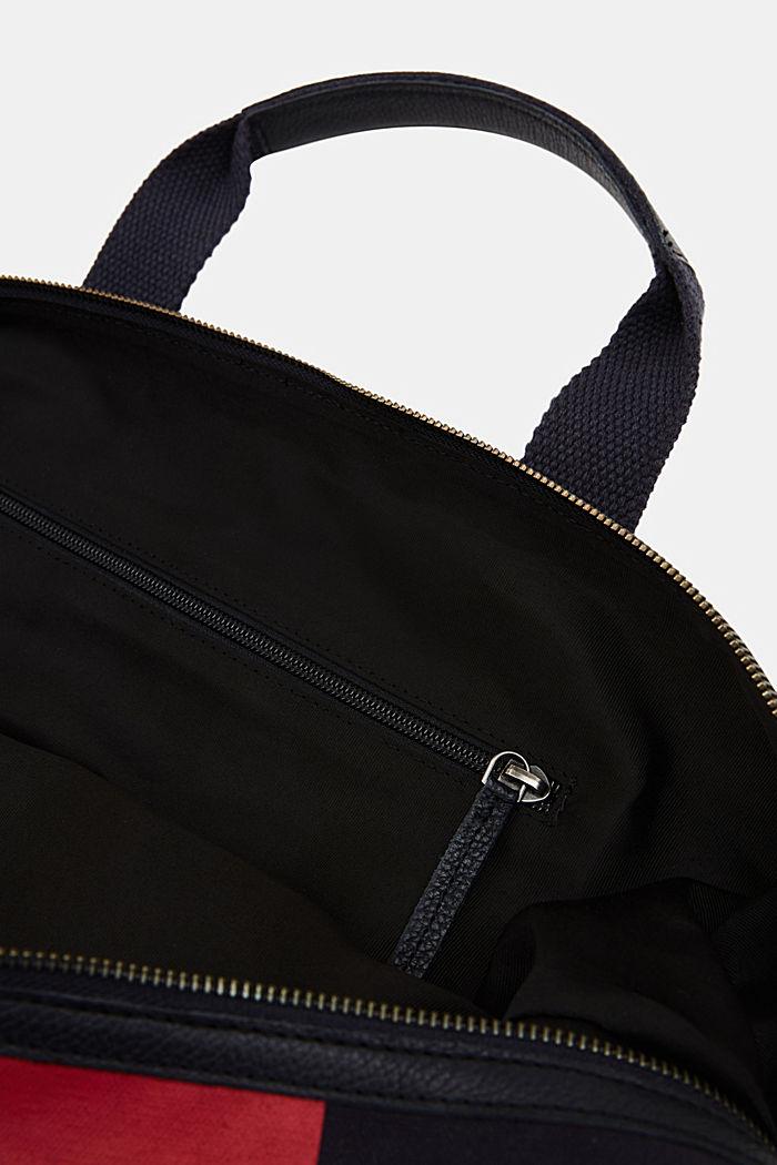 Weekender aus 100% Baumwolle, NAVY, detail image number 2