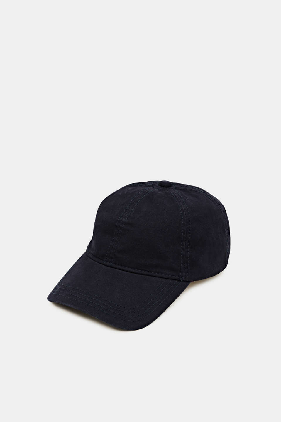 Cap in a basic design, 100% cotton, NAVY, detail image number 0