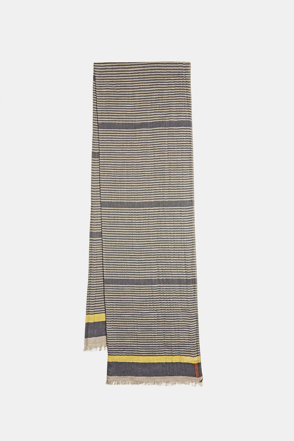Woven scarf in 100% cotton, BEIGE, detail image number 0