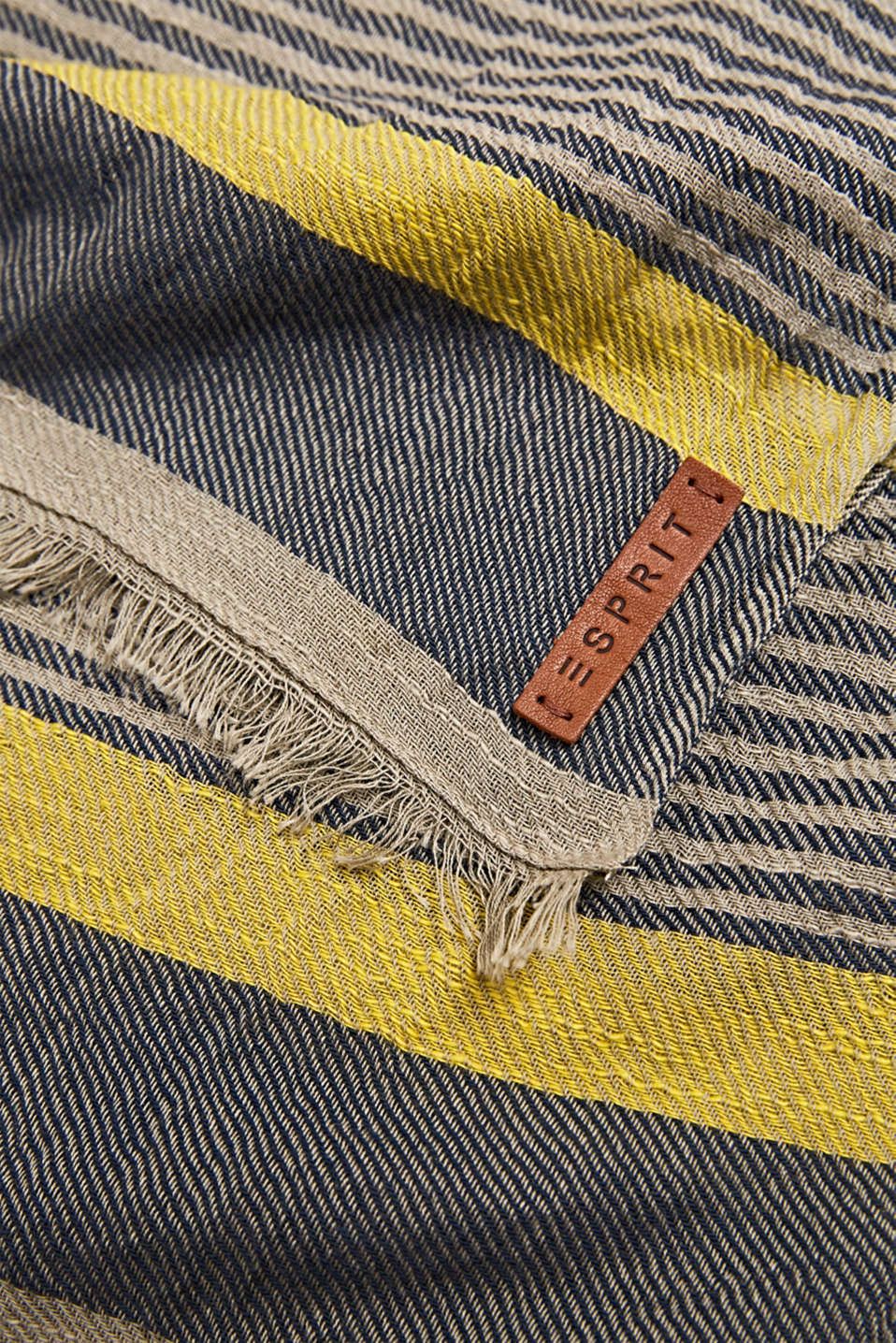 Woven scarf in 100% cotton, BEIGE, detail image number 2