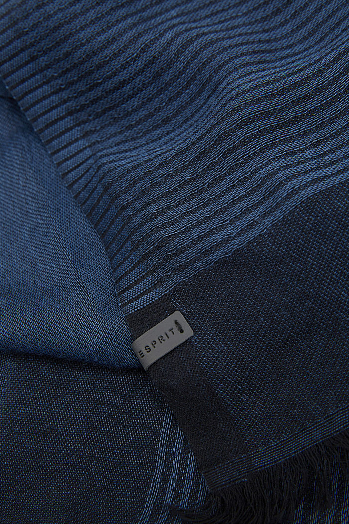 Schal mit Baumwolle, NAVY, detail image number 1