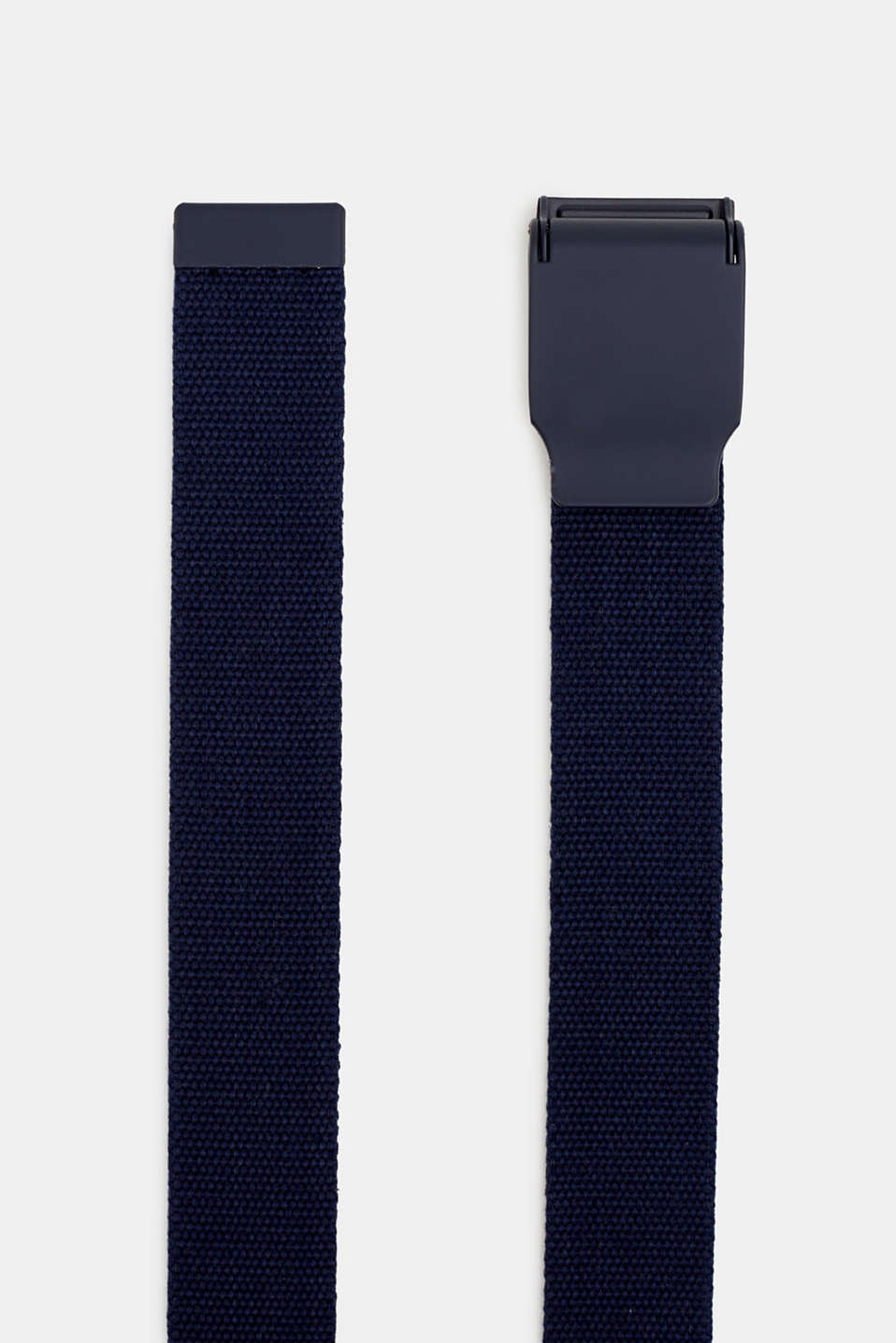 Woven belt with a metal fastener, NAVY, detail image number 1