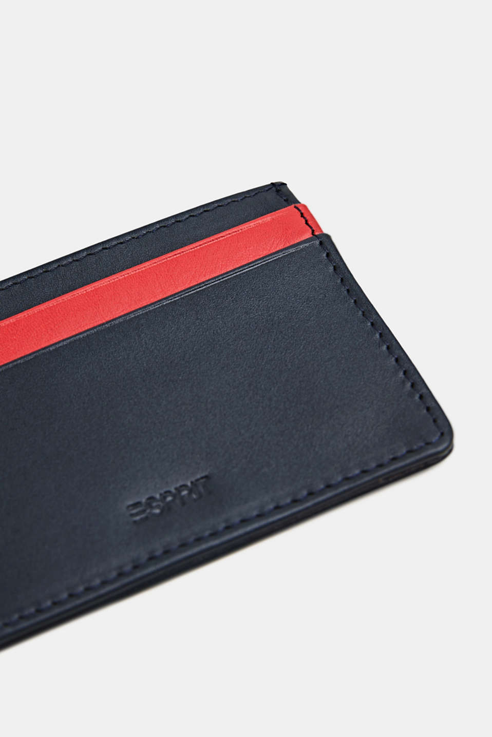 Card holder made of leather, NAVY, detail image number 1
