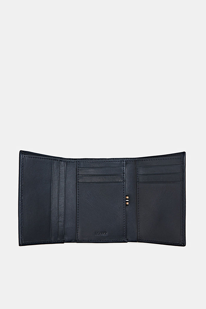 Leather purse, NAVY, detail image number 3