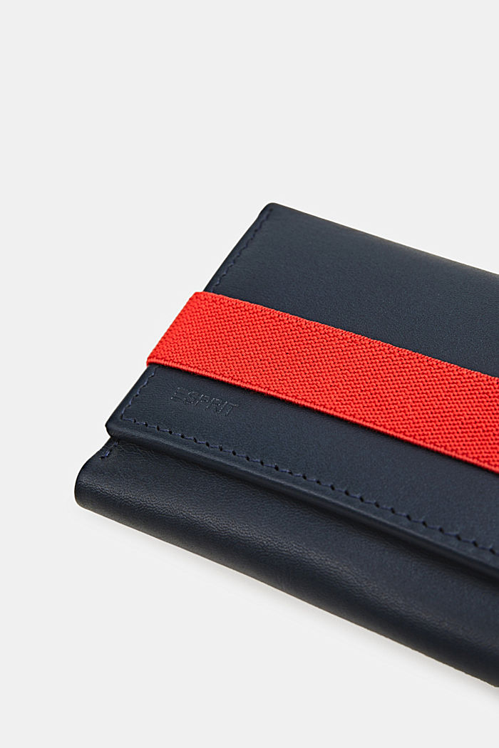 Leather purse, NAVY, detail image number 1