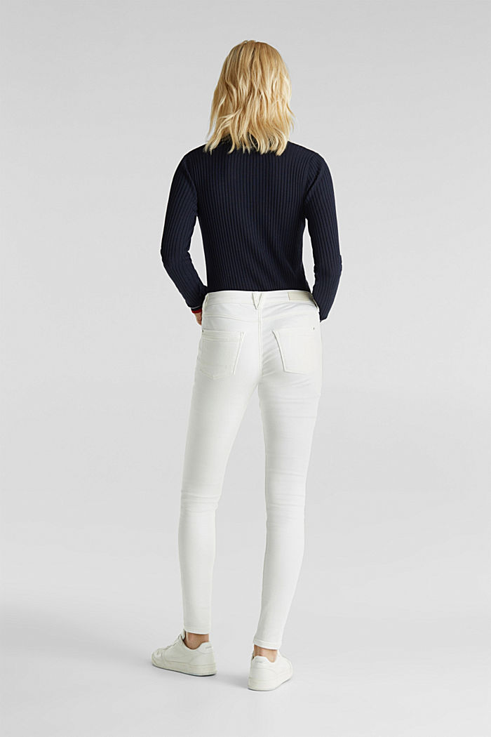 Jeans in comfy tracksuit fabric, WHITE, detail image number 3