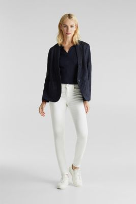 Jeans in comfy tracksuit fabric, WHITE, detail