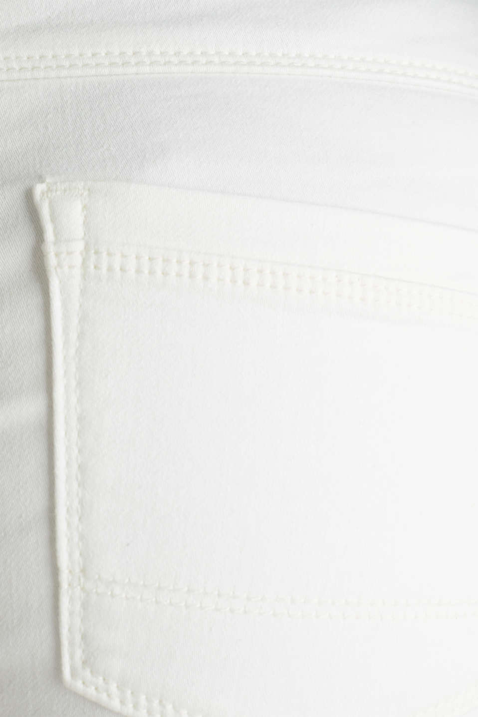 Jeans in comfy tracksuit fabric, WHITE, detail image number 4