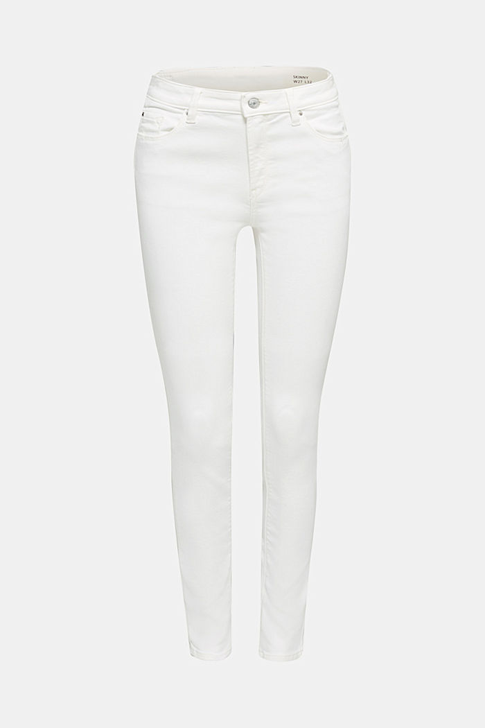 Jeans in bequemer Jogger-Qualität, WHITE, detail image number 7