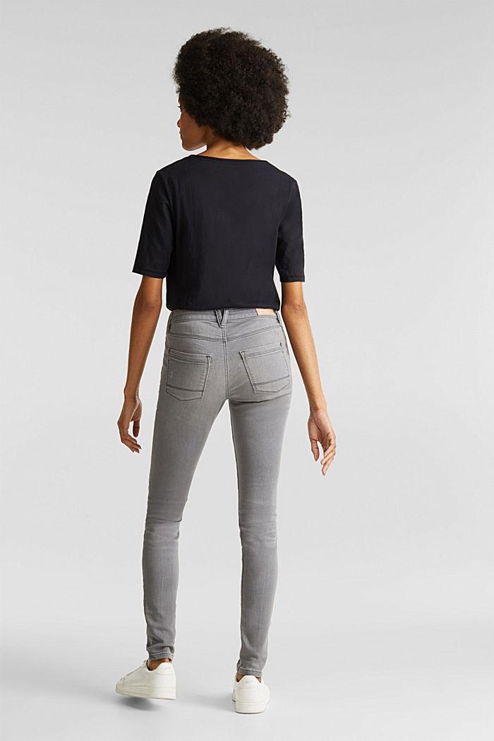 Jogger-Jeans mit Used-Effekten, GREY MEDIUM WASHED, detail image number 3