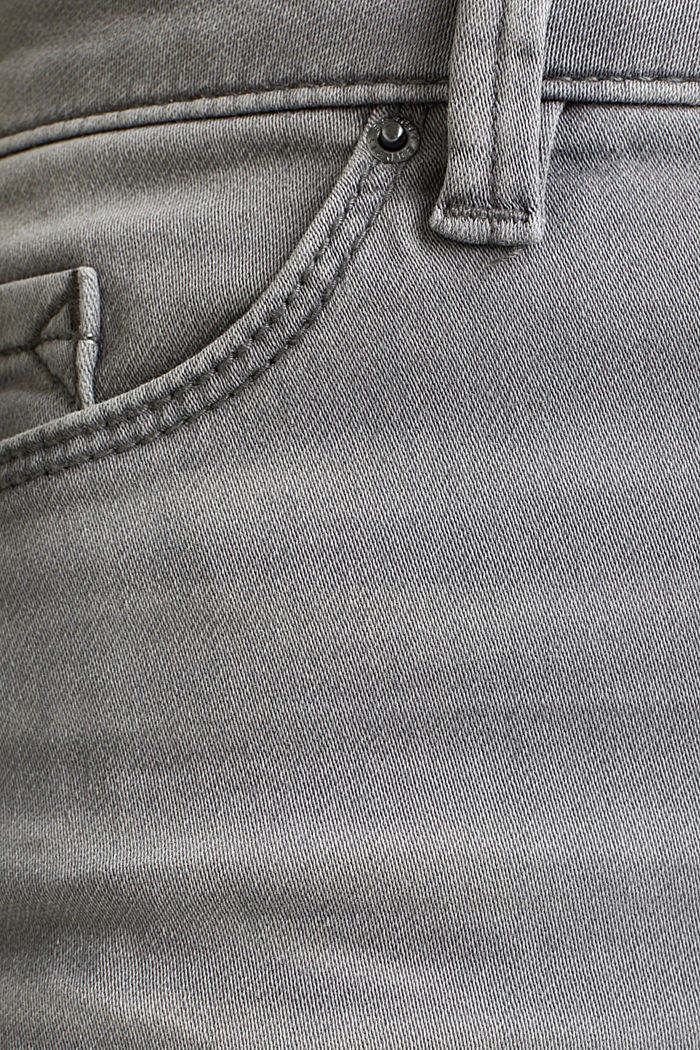 Jogger-Jeans mit Used-Effekten, GREY MEDIUM WASHED, detail image number 4