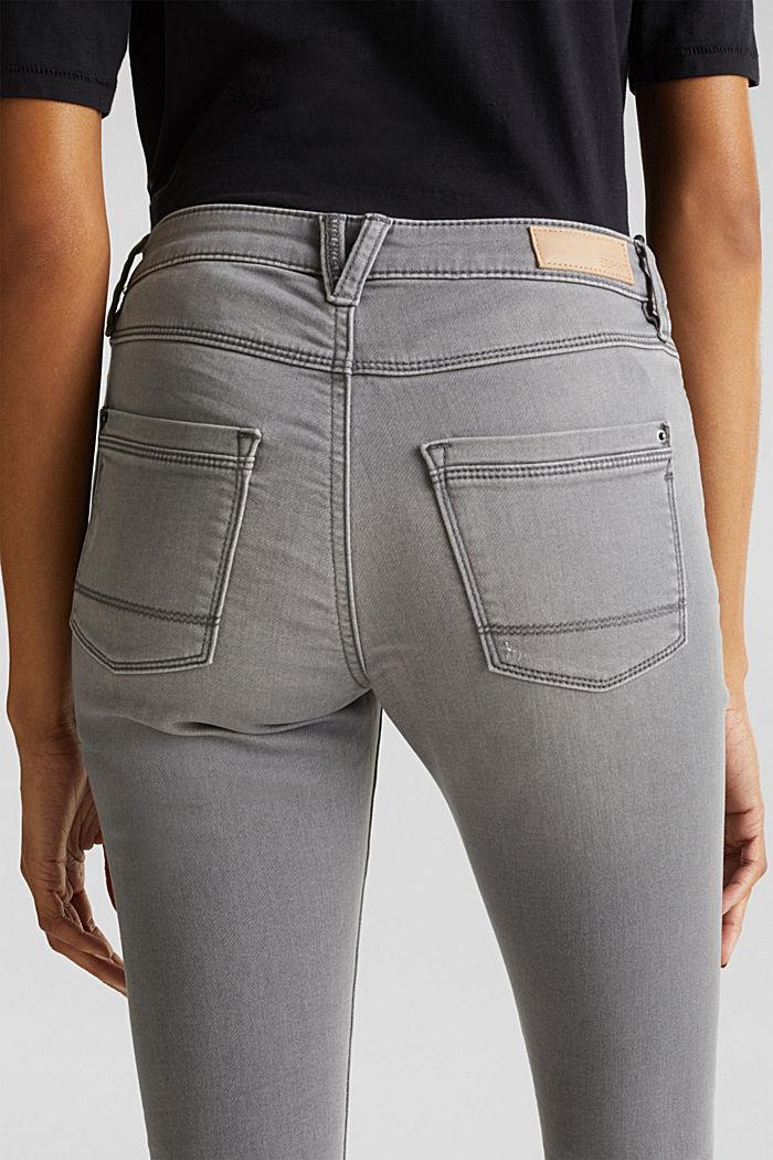 Jogger-Jeans mit Used-Effekten, GREY MEDIUM WASHED, detail image number 5