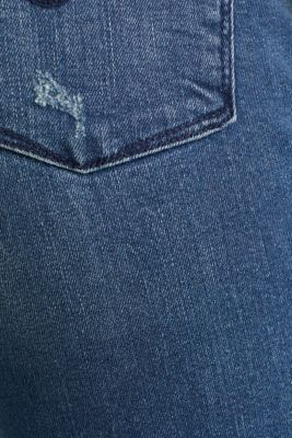 Jeans with vintage details, BLUE MEDIUM WASH, detail