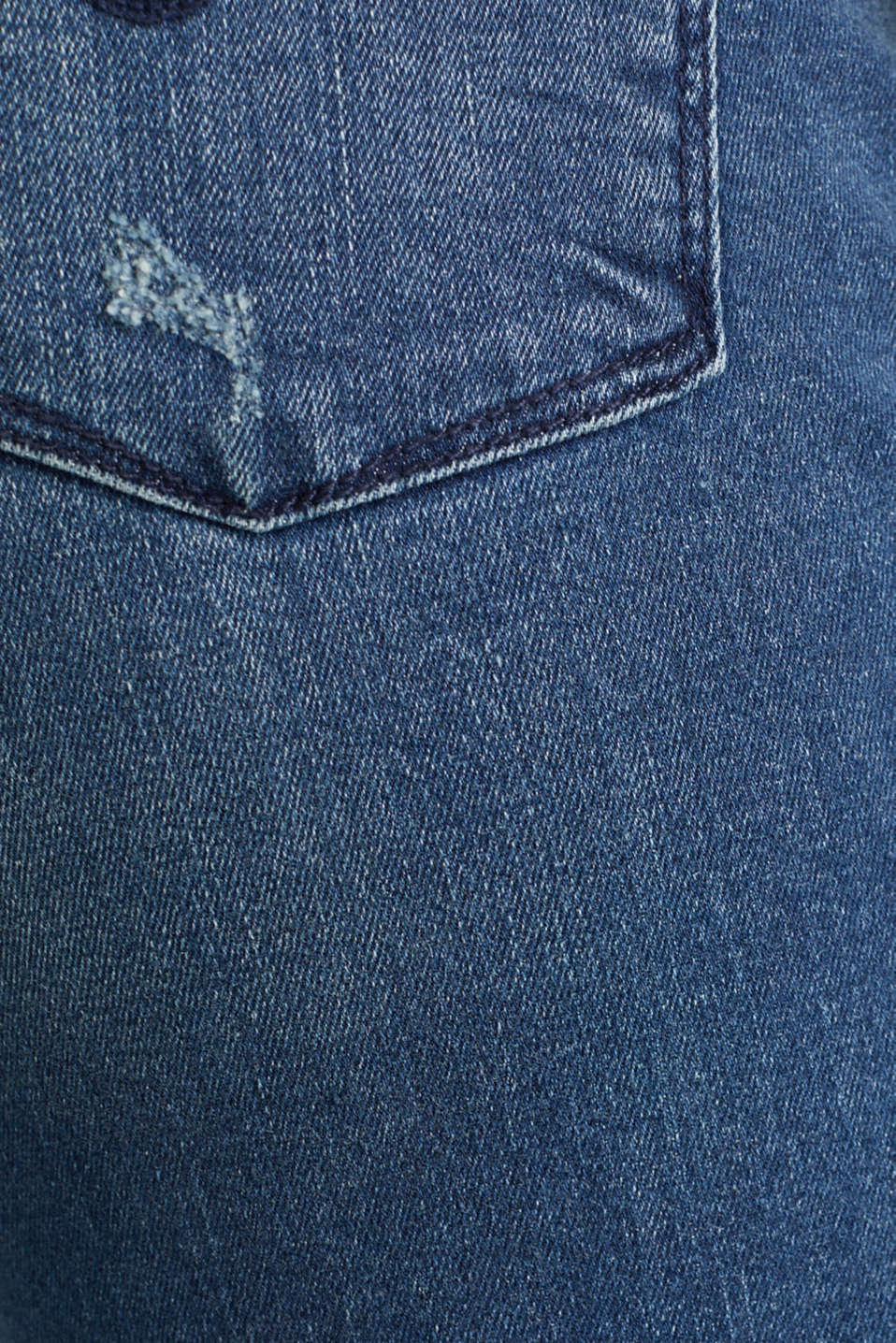 Jeans with vintage details, BLUE MEDIUM WASH, detail image number 4