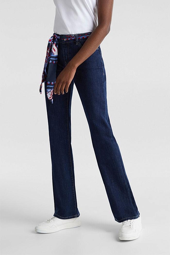 Jeans met bandana-bindceintuur, BLUE RINSE, detail image number 0