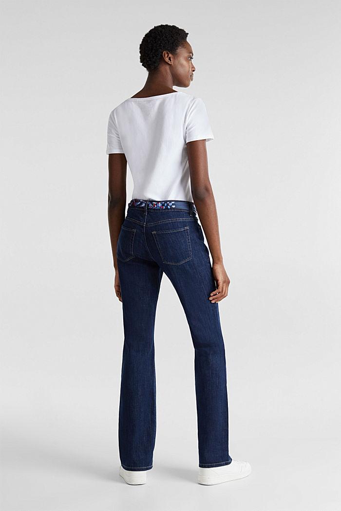 Jeans met bandana-bindceintuur, BLUE RINSE, detail image number 3