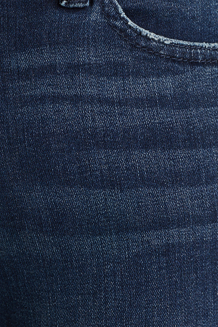 Jeans with tape details, BLUE DARK WASHED, detail image number 4