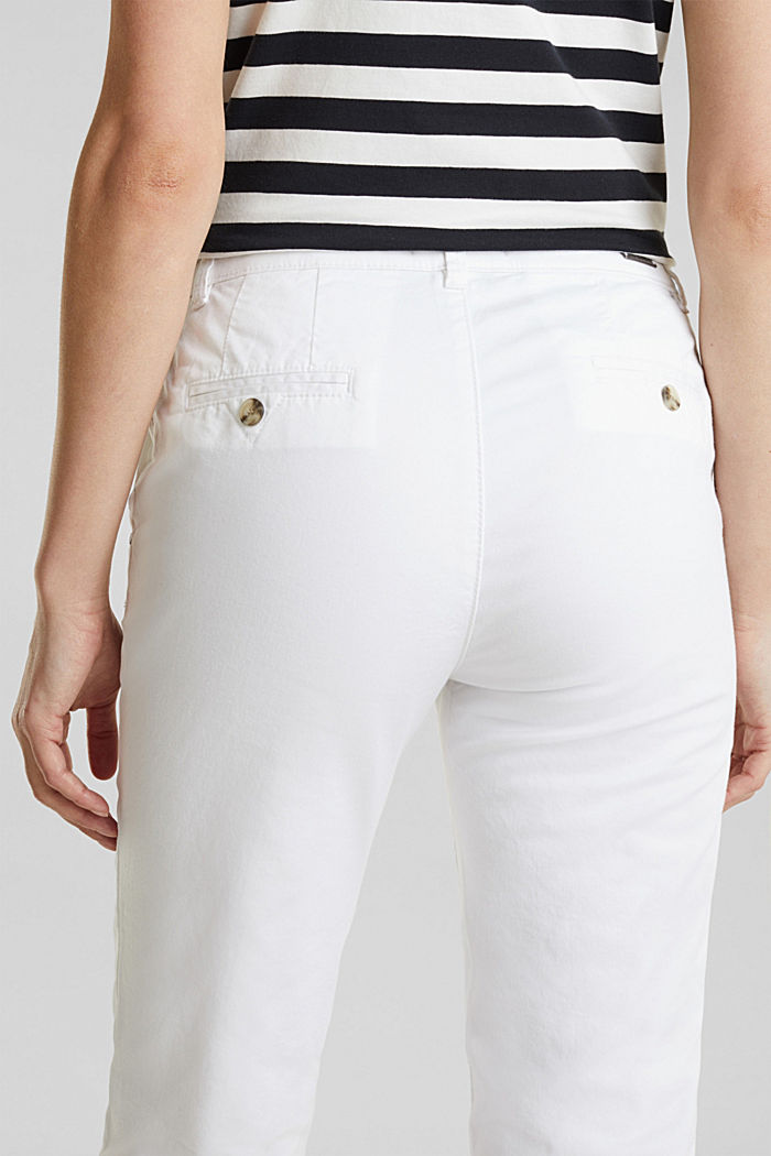 Stretch-Chino mit Lycra xtra life™, WHITE, detail image number 5
