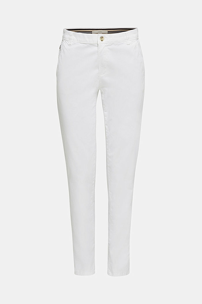 Stretch-Chino mit Lycra xtra life™, WHITE, detail image number 6