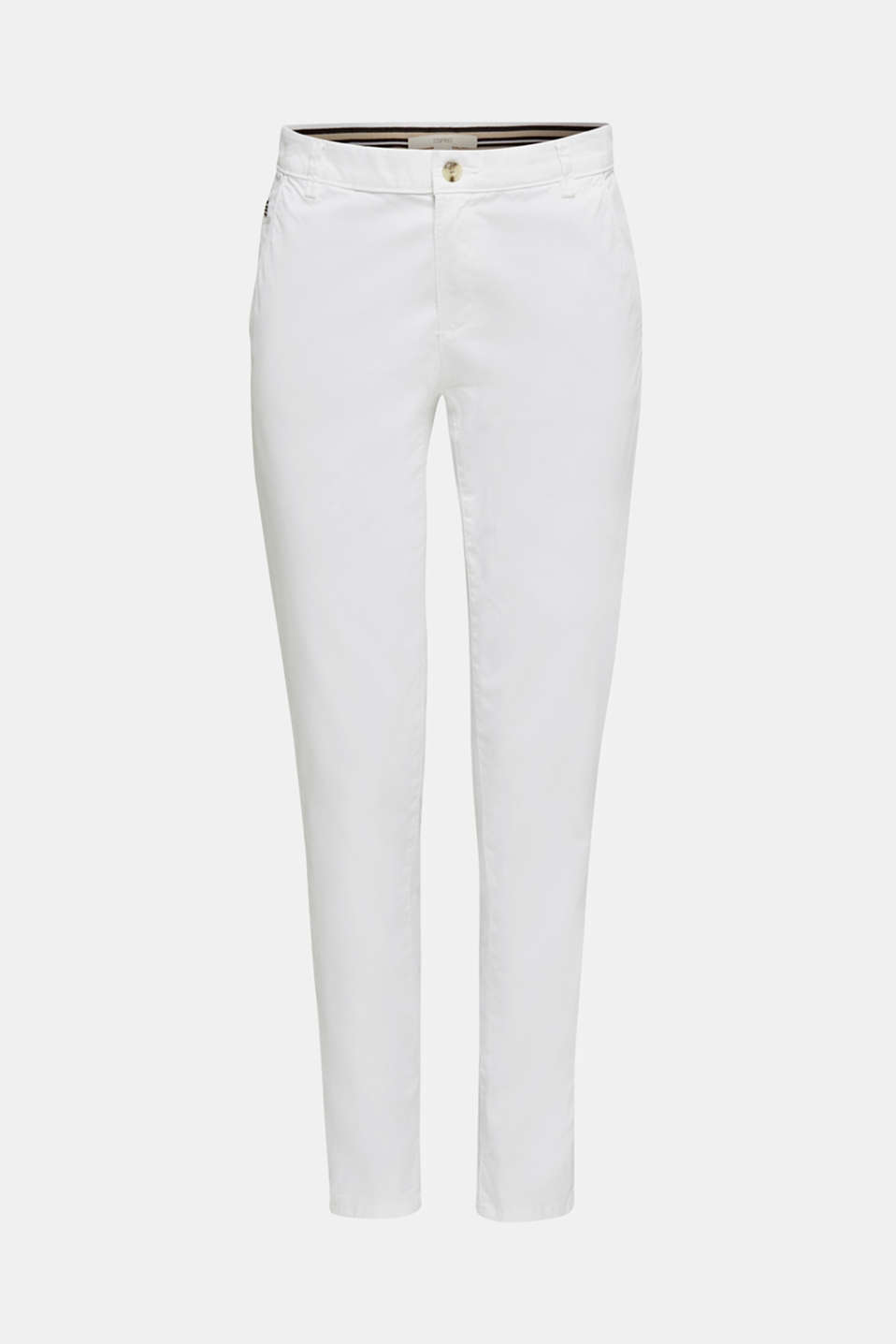 Cotton stretch chinos with Lycra xtra life™, WHITE, detail image number 6