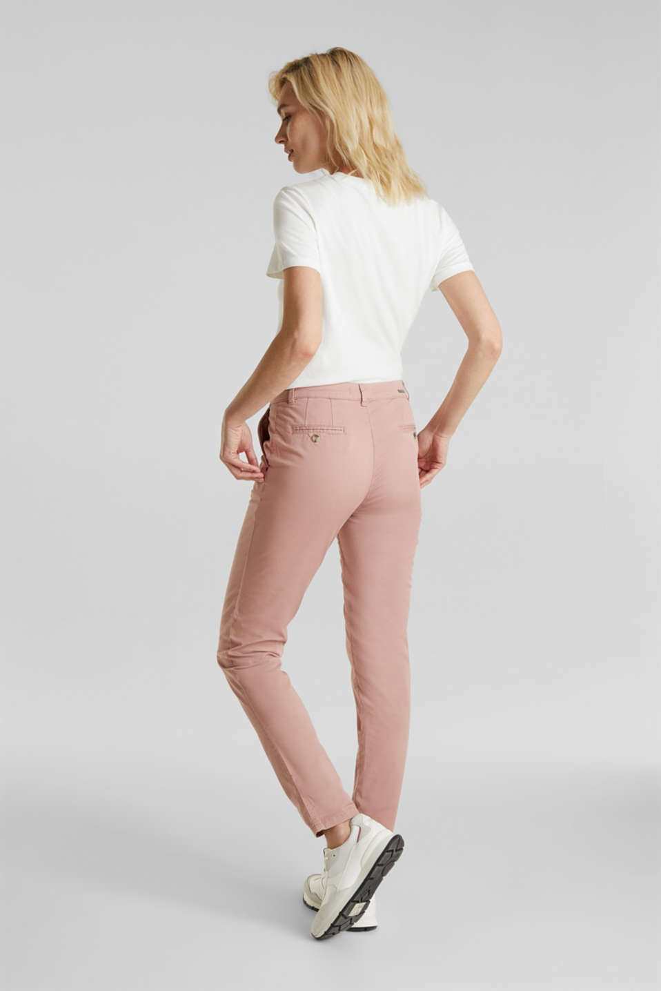 Stretch chinos with Lycra xtra life™, OLD PINK, detail image number 3