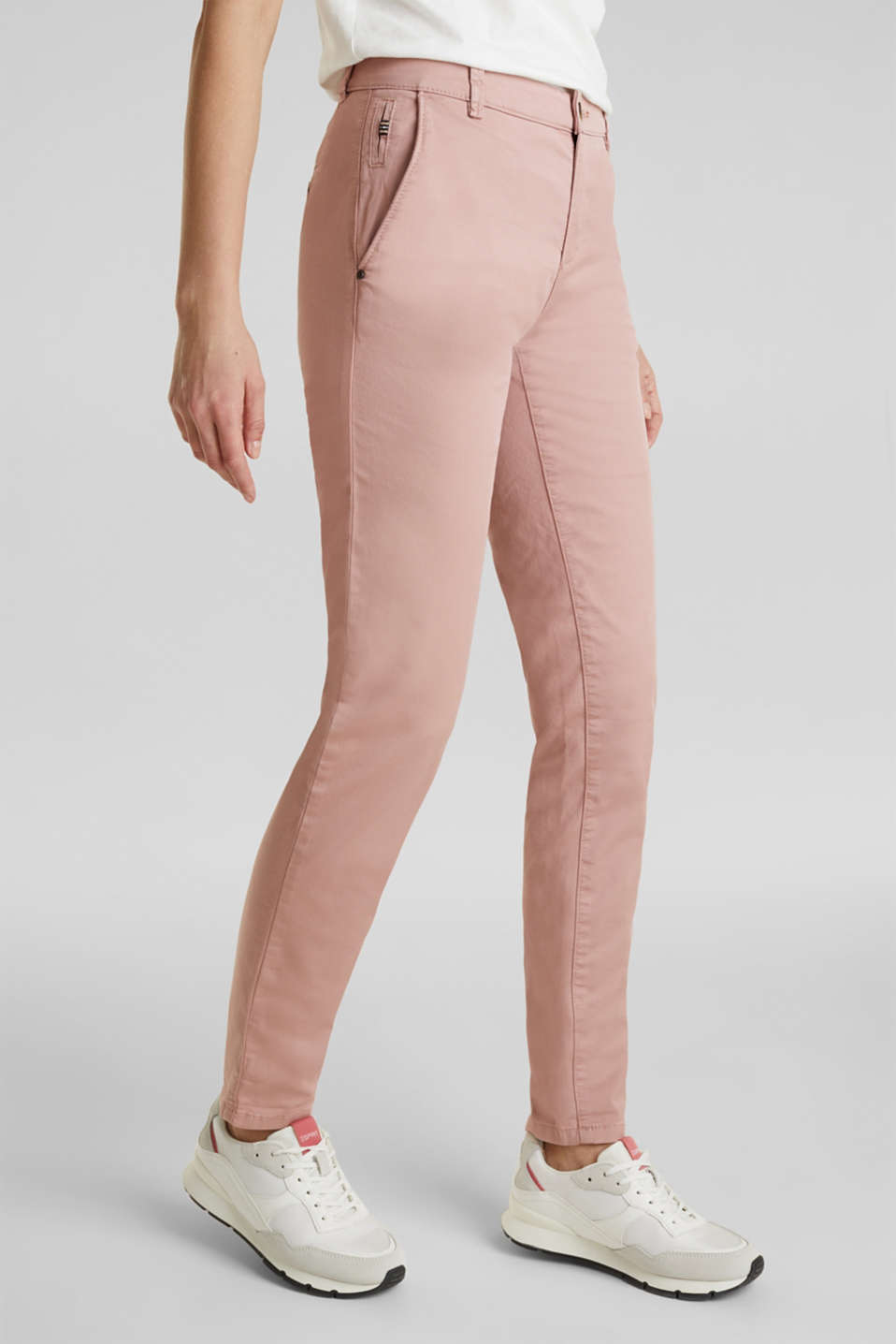 Stretch chinos with Lycra xtra life™, OLD PINK, detail image number 6