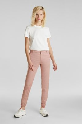 Stretch chinos with Lycra xtra life™, OLD PINK, detail
