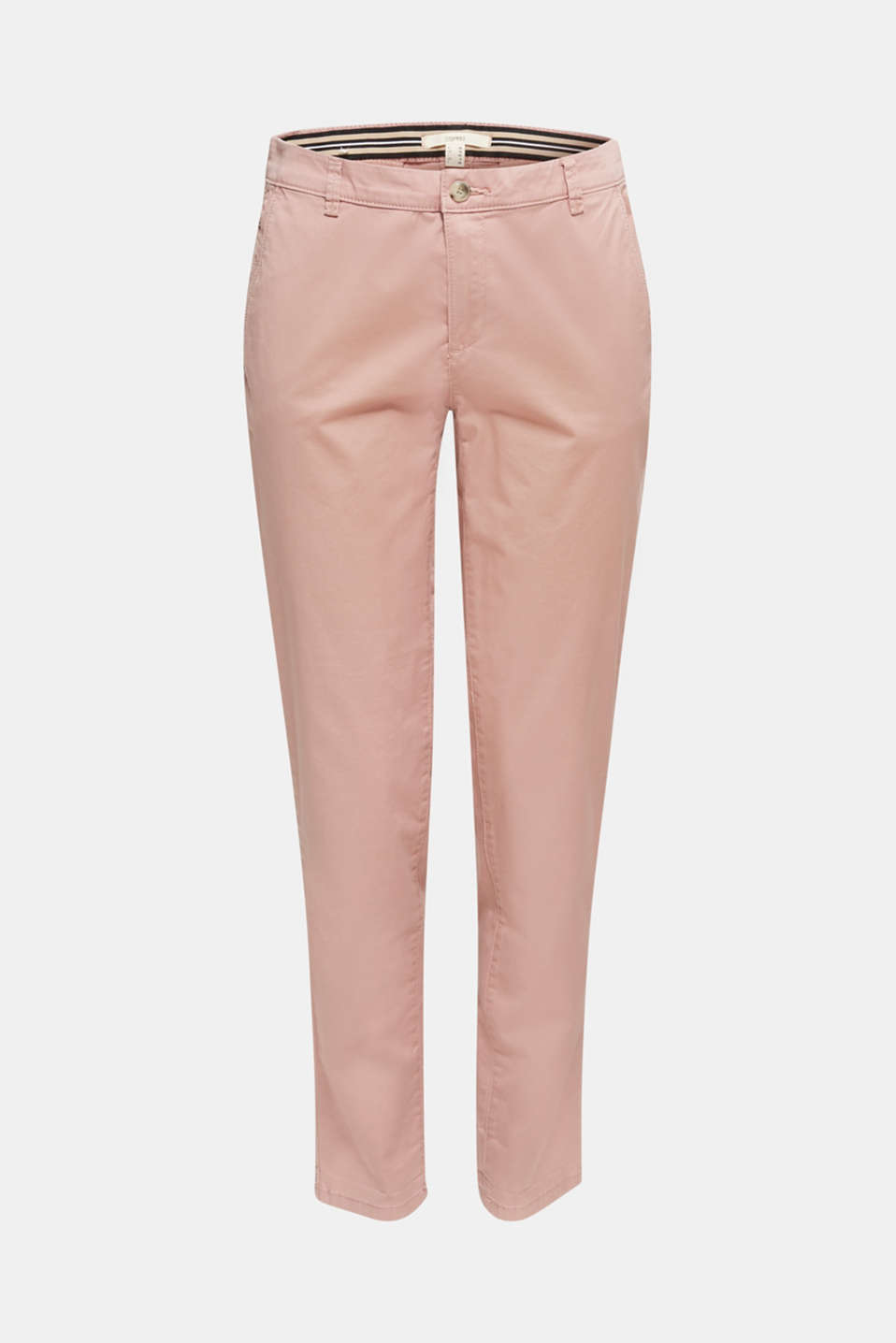 Stretch chinos with Lycra xtra life™, OLD PINK, detail image number 7