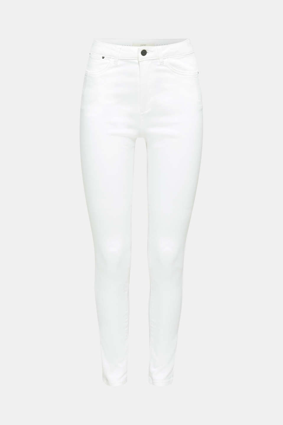 Jeans with a figure-contouring effect, WHITE, detail image number 7