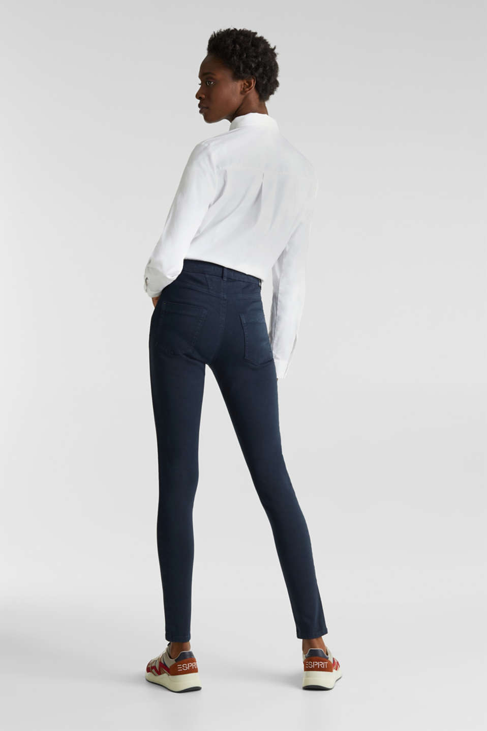 Jeans with a figure-contouring effect, NAVY, detail image number 3