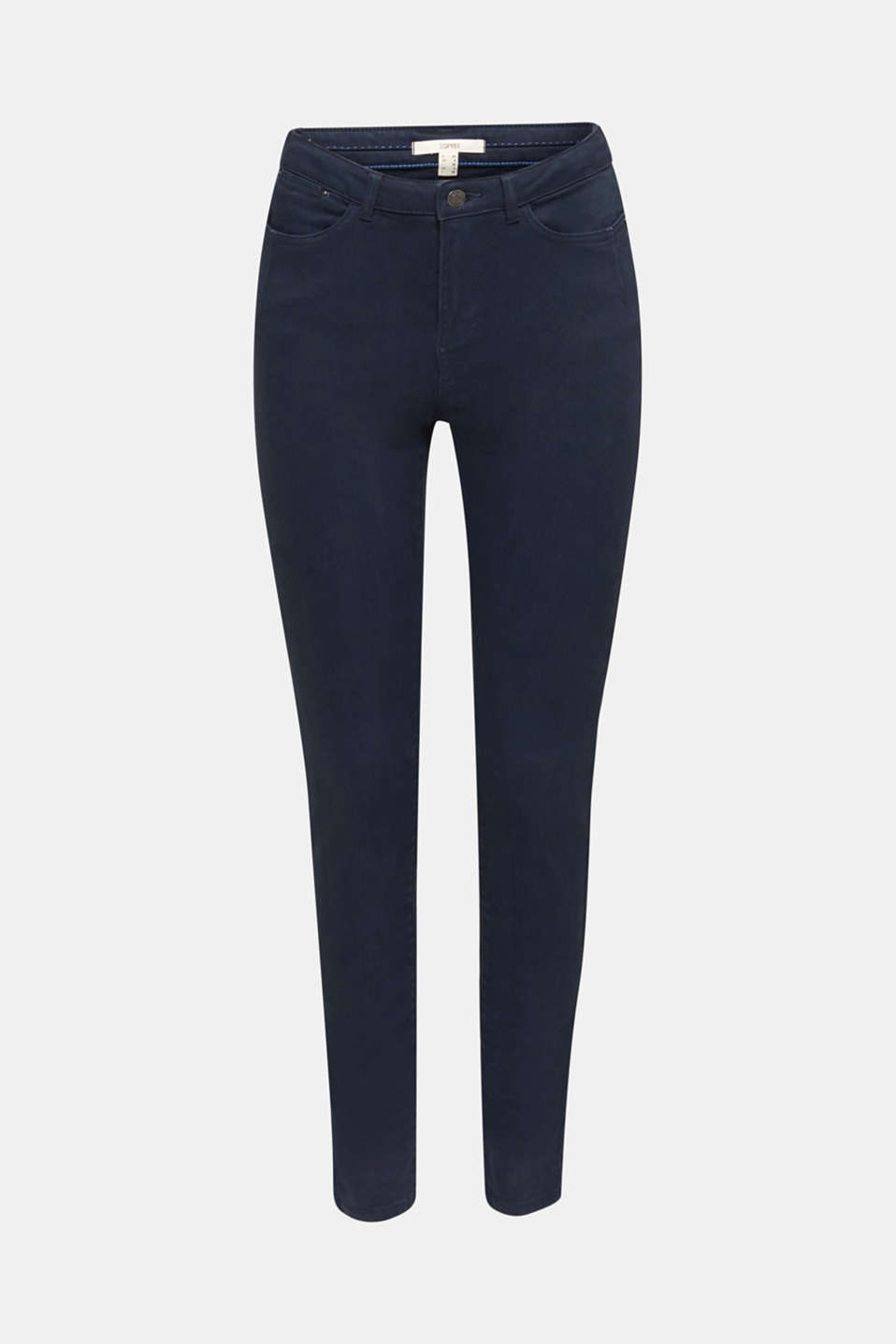 Jeans with a figure-contouring effect, NAVY, detail image number 6