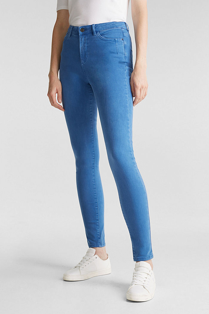 Jeans with a figure-contouring effect, BRIGHT BLUE, detail image number 0