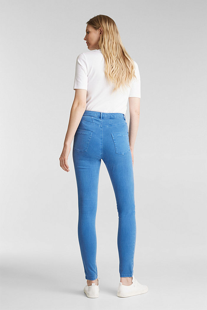 Jeans with a figure-contouring effect, BRIGHT BLUE, detail image number 3