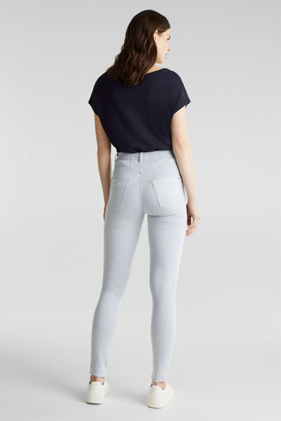 Jeans with a figure-contouring effect, LIGHT BLUE, detail image number 2
