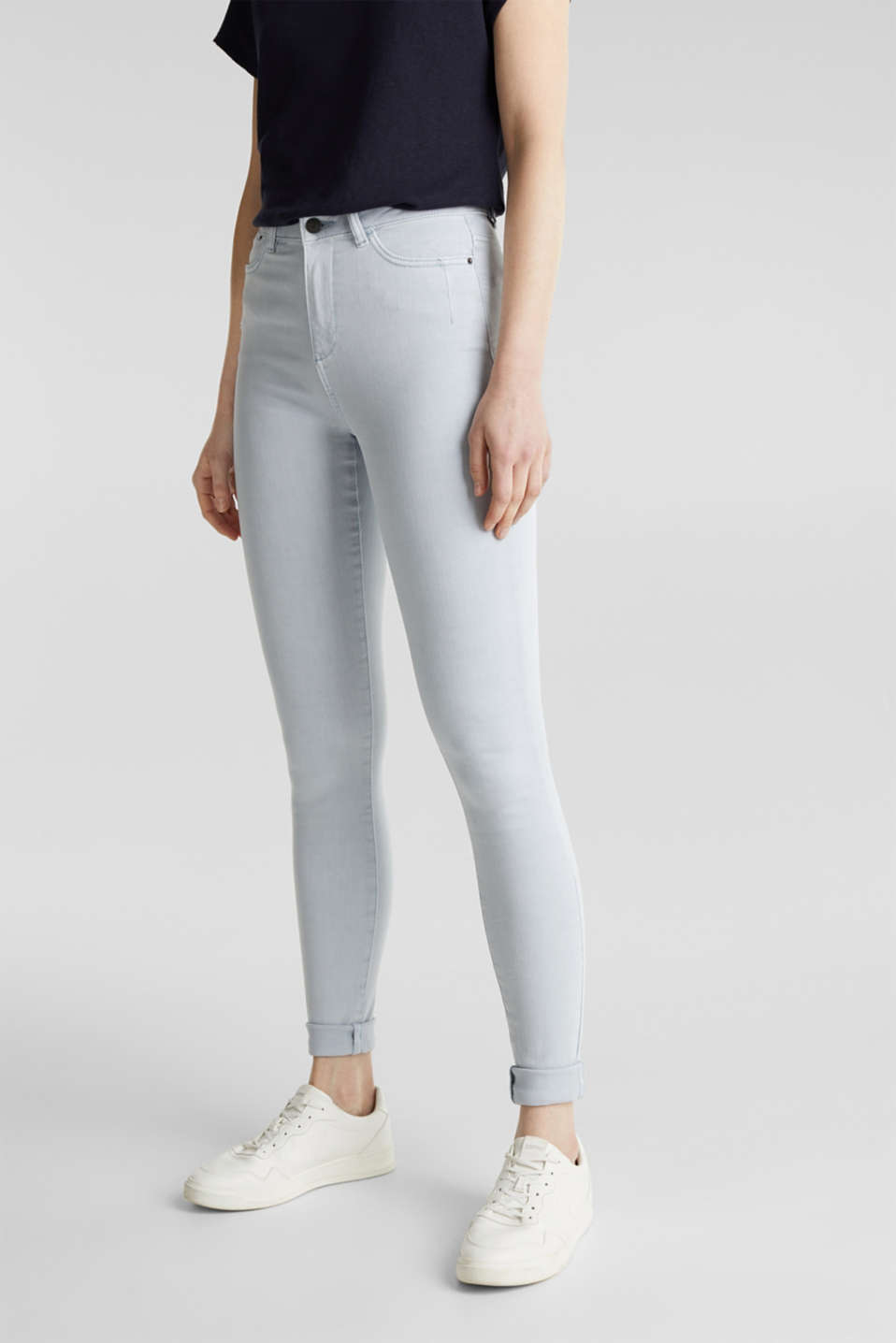 Jeans with a figure-contouring effect, LIGHT BLUE, detail image number 5
