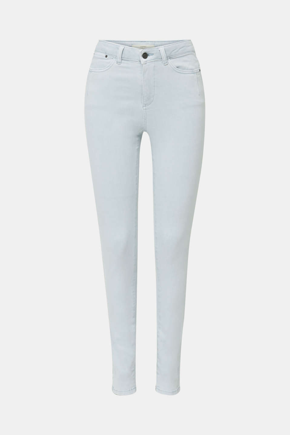 Jeans with a figure-contouring effect, LIGHT BLUE, detail image number 6