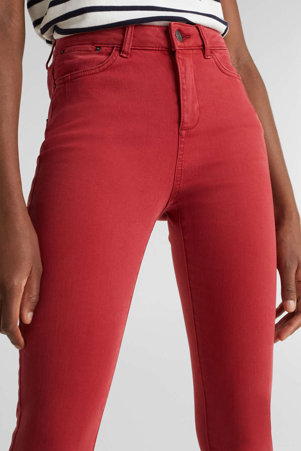 Shaping jeans with new pockets, DARK RED, detail image number 2