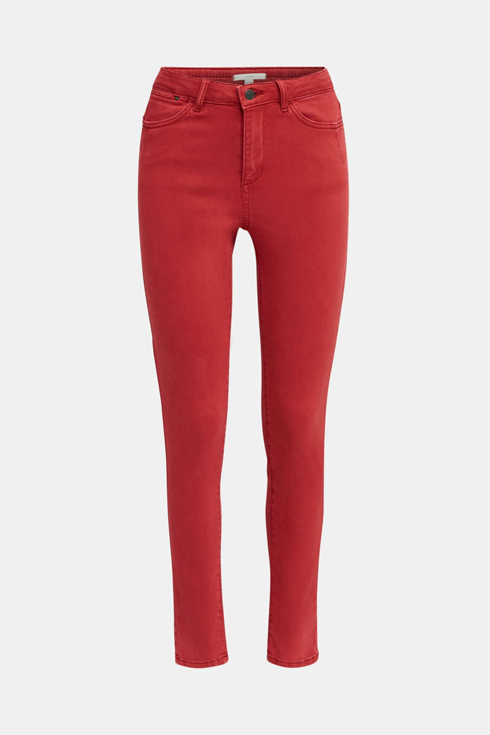 Jeans with a figure-contouring effect, DARK RED, detail image number 5