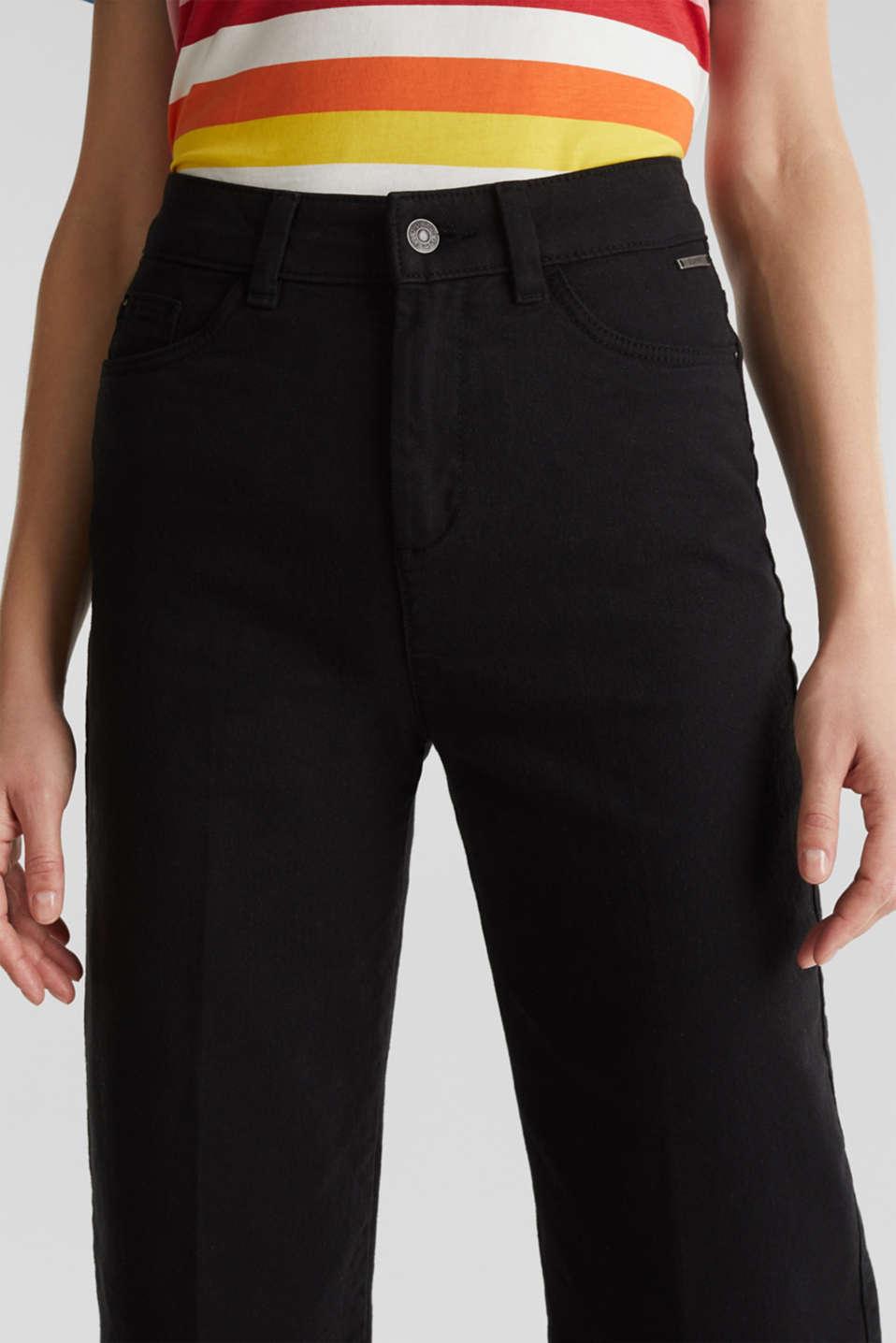 Denim culottes made of firm denim, BLACK, detail image number 2