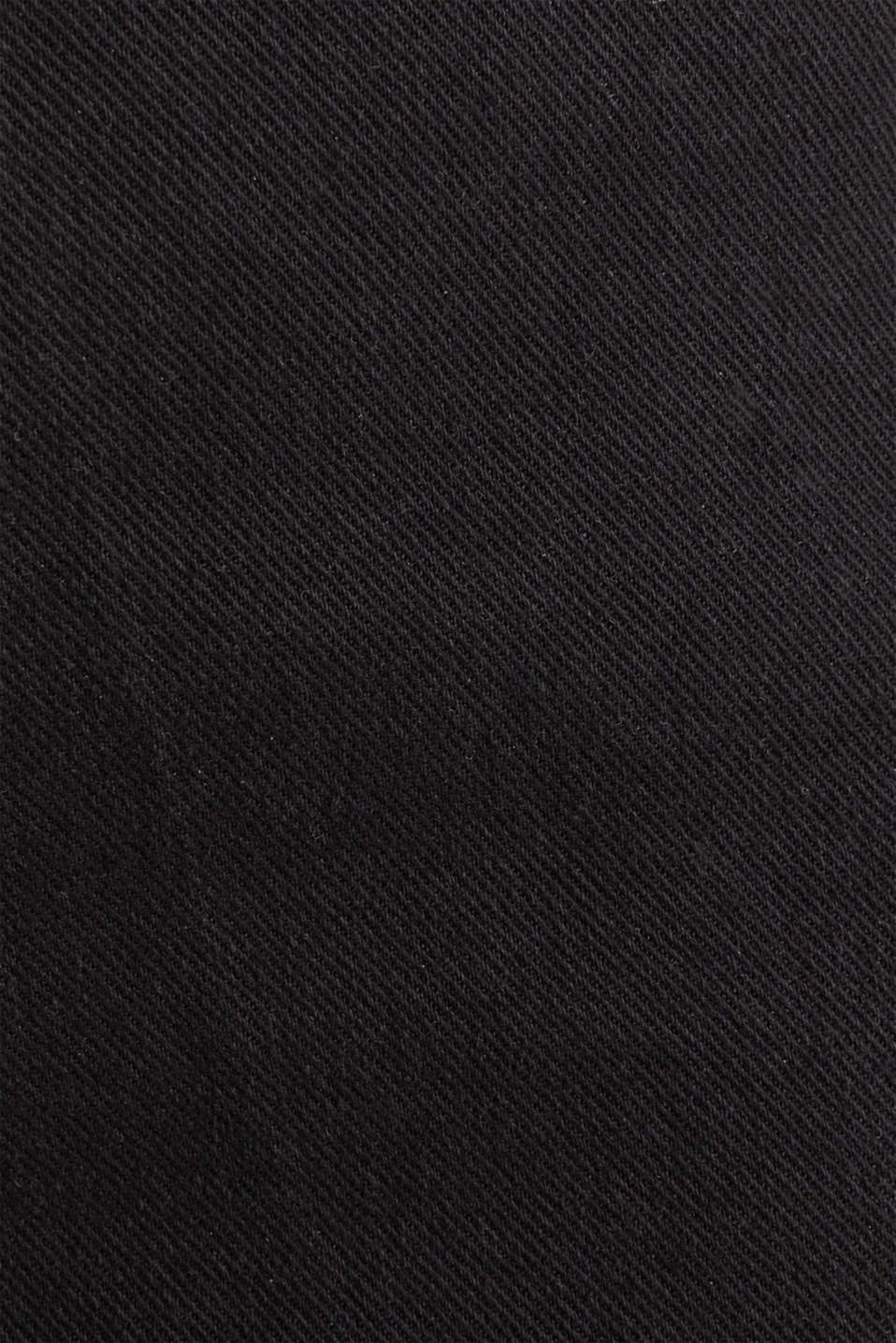 Denim culottes made of firm denim, BLACK, detail image number 4