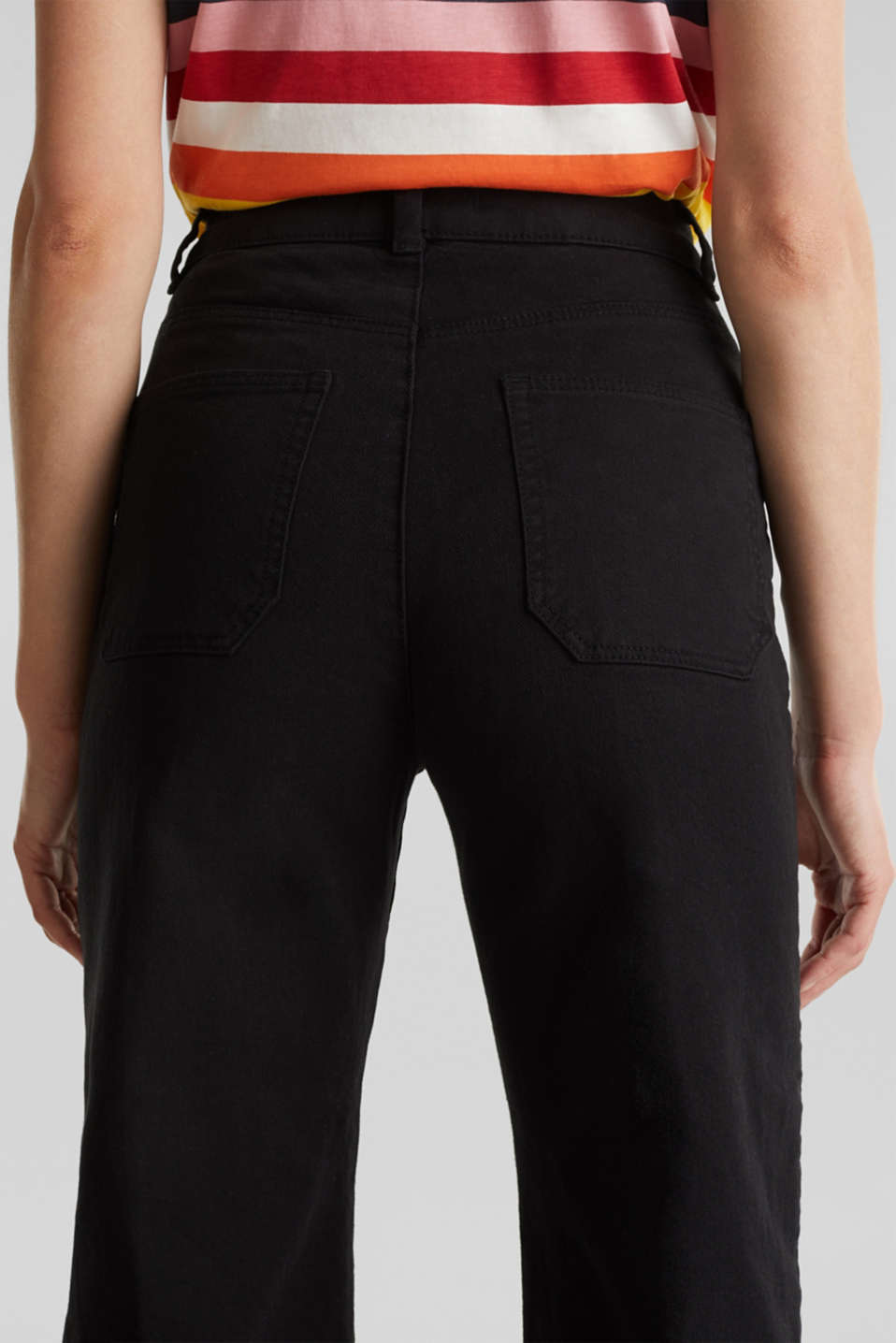 Denim culottes made of firm denim, BLACK, detail image number 5
