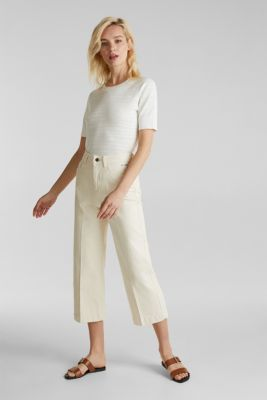 Denim culottes made of firm denim, ICE, detail