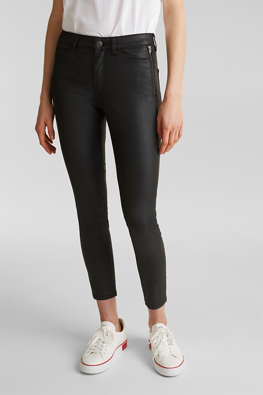 Coated Ankle-Pants mit Zippern