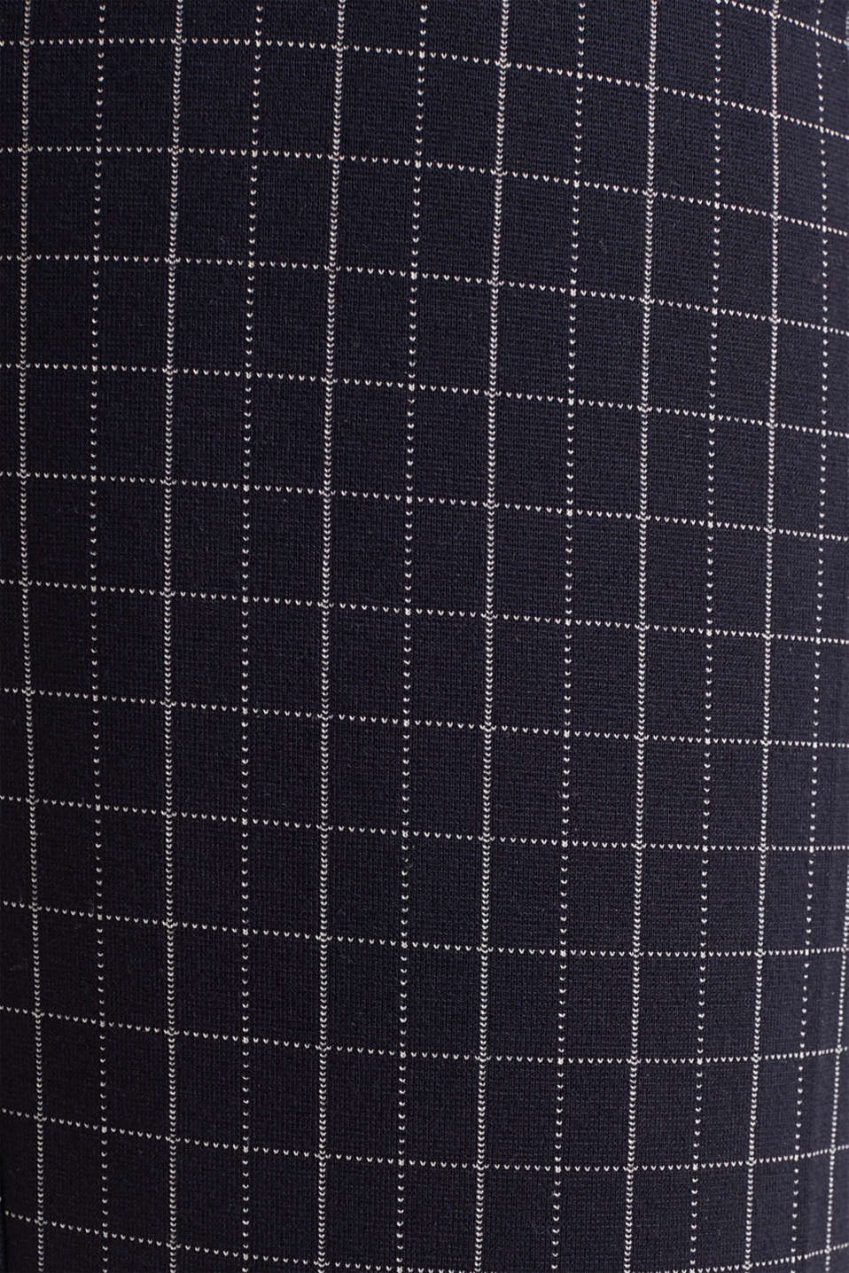 Stretch jersey chinos with grid checks, NAVY 3, detail image number 4