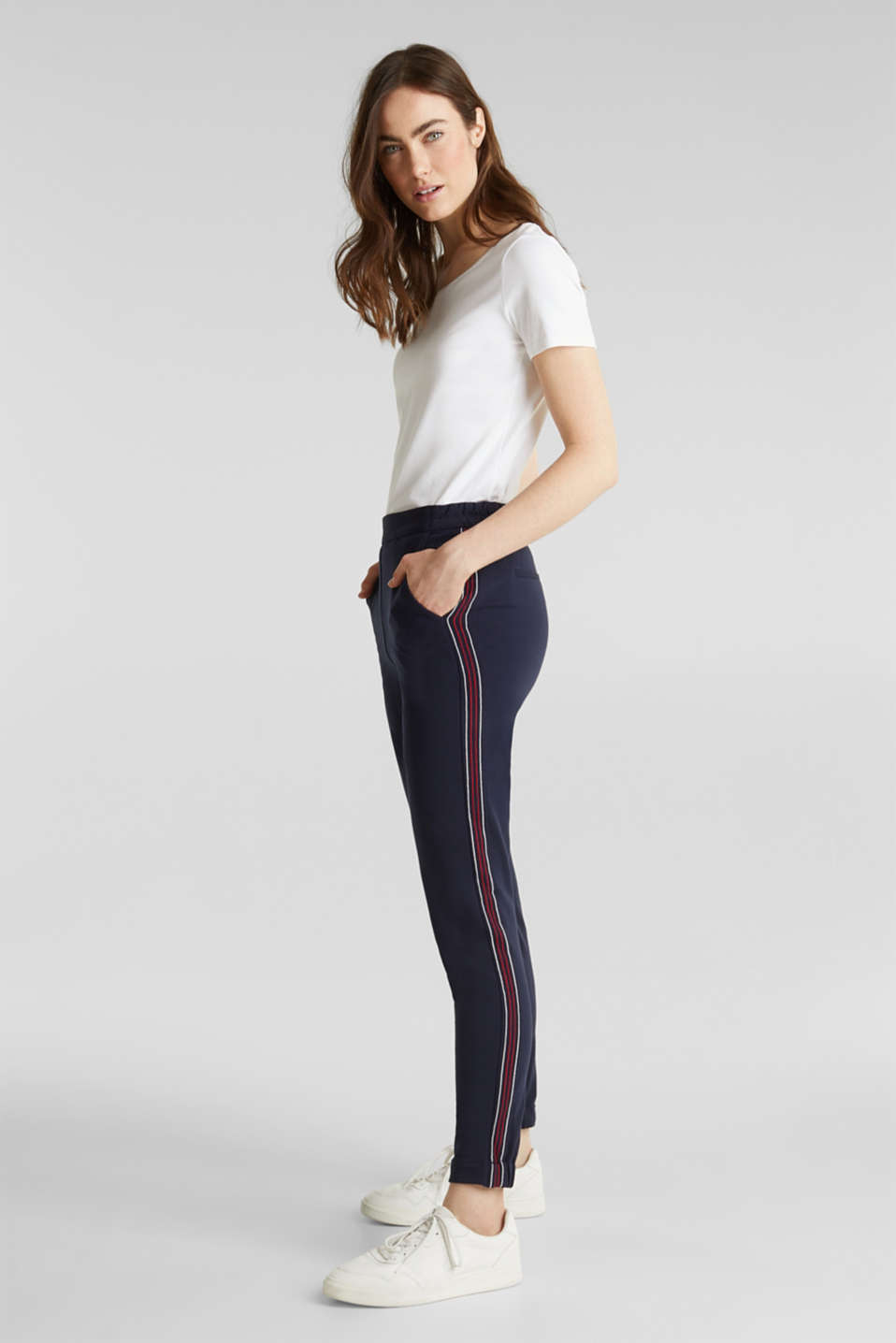 Esprit - Tracksuit bottoms with decorative stitching