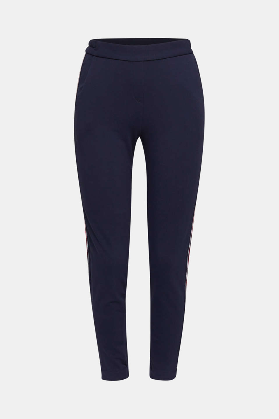 Tracksuit bottoms with decorative stitching, NAVY, detail image number 6
