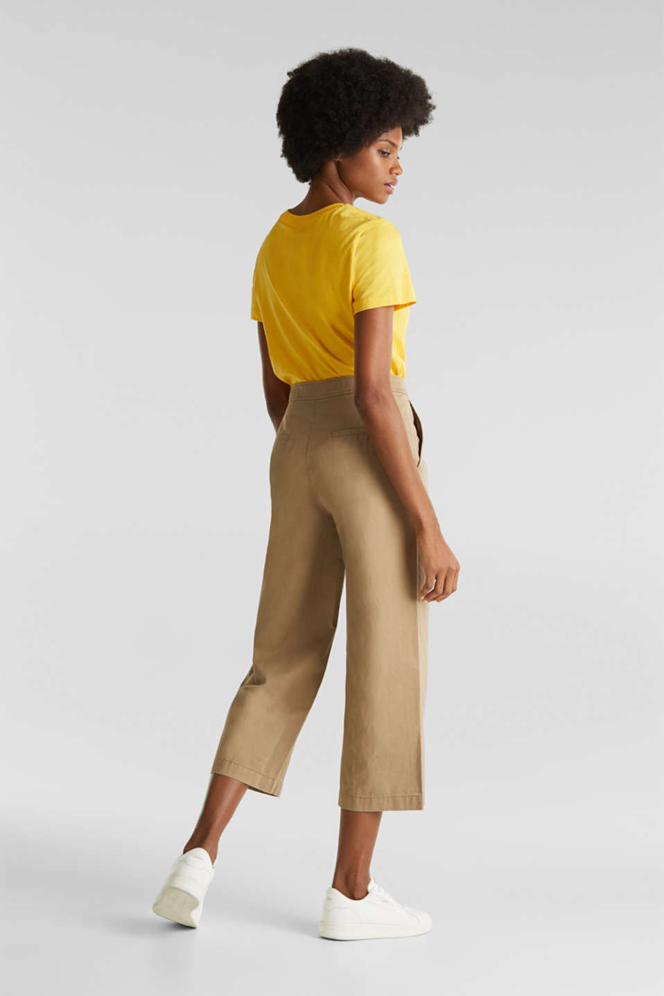 Sporty culottes, 100% cotton, BEIGE, detail image number 3