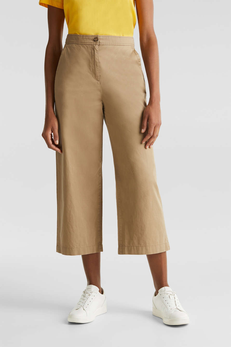 Culottes made of 100% cotton, BEIGE, detail image number 6