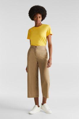 Sporty culottes, 100% cotton, BEIGE, detail