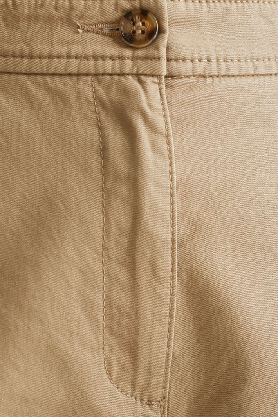 Sporty culottes, 100% cotton, BEIGE, detail image number 4